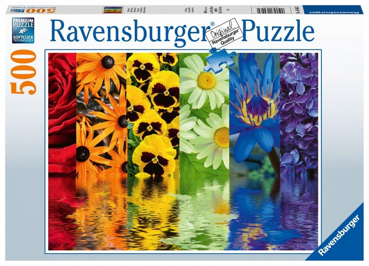 puzzle Ravensburger 500 dílků - Květinové odrazy 164462
