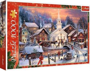 Puzzle Trefl  1000 dílků  - Bílé vánoce Chuck Pinson  10602