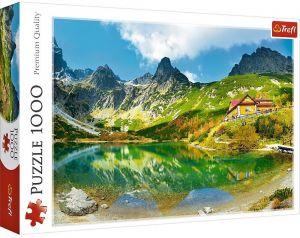 Puzzle Trefl  1000 dílků  - Chata  nad Zeleným plesem - Tatry   10606
