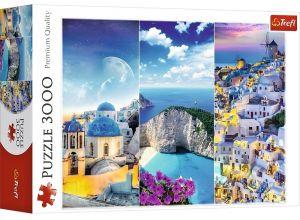 Puzzle TREFL 3000 dílků - Řecké výletní destinace - koláž   33073
