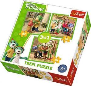 Puzzle   Trefl  3v1 - 20, 36 a 50 dílků  - Treflíci  34838