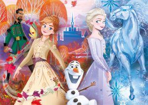 Super Kit - hry Clementoni 4v1 ( 2x puzzle , domino , pexeso ) Frozen II 20241