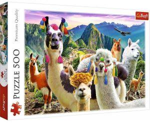 TREFL Puzzle  500 dílků -  Lamy v horách  37383
