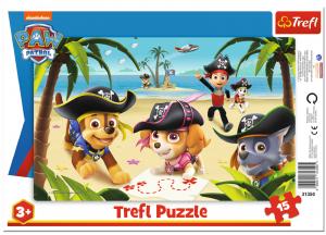 15 dílků Paw Patrol   -  puzzle v rámečku ( rámkové ) puzzle Trefl 31350