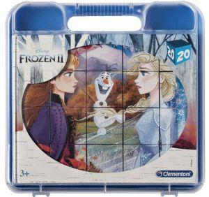 Clementoni - Obrázkové kostky ( kubus ) v kufříku  - 20 kostek -  Frozen II