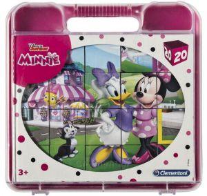 Clementoni - Obrázkové kostky ( kubus ) v kufříku  - 20 kostek -  Minnie