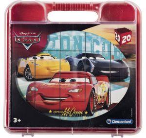 Clementoni - Obrázkové kostky ( kubus ) v kufříku  - 20 kostek - Cars