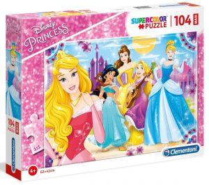 Clementoni puzzle 104 dílků MAXI - Princezny Disney   23714
