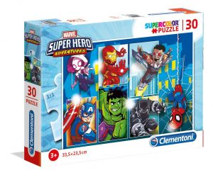 Clementoni puzzle 30 dílků - Super  Hero  20256