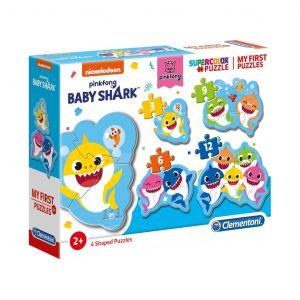 Clementoni Puzzle pro nejmenší - My first  4v1 -  Baby žraloci - Baby Shark  20828