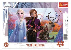 Deskové puzzle Trefl 15 dílků -  31348 Frozen