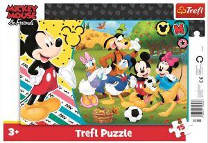 Deskové puzzle Trefl 15 dílků -  31353 Mickey Mouse