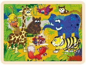 Dřěvěné puzzle Brimarex - Playme - 35 dílků - džungle  II   40 x 30 cm