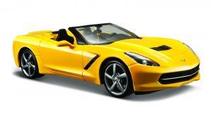 Maisto  1:24 Corvette Stingray 2014 - žlutá  barva