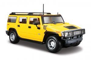 Maisto 1:27  2003 Hummer H2 SUV   31231 - žlutá  barva