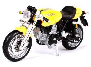 Maisto  motorka bez podstavce  -  Ducati Sport 1000  1:18  žlutá