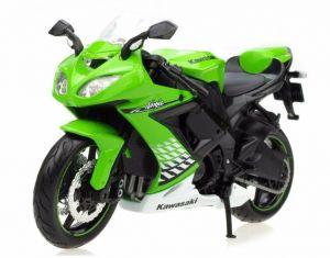 Maisto  motorka bez podstavce  -  Kawasaki Ninja ZX-10R  1:18  zelená
