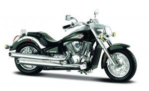 Maisto  motorka bez podstavce  -  Kawasaki Vulcan  1:18  zelená