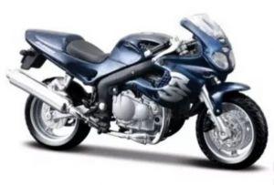Maisto  motorka bez podstavce  -  Triumph 955i RS  1:18  tm. modrá