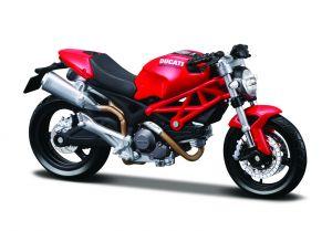 Maisto  motorka na stojánku - Ducati Monster 696  1:18  červená