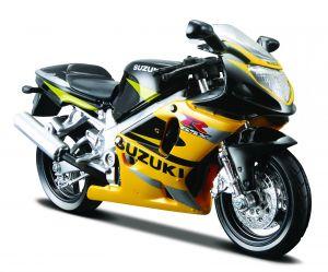 Maisto  motorka na stojánku - Suzuki GSX-R 600  1:18  žlutá