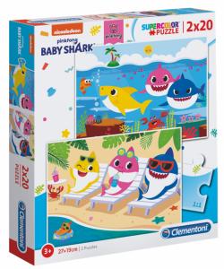 Puzzle Clementoni  2x20 dílků  -  Baby žraloci  -  Baby Shark 24777