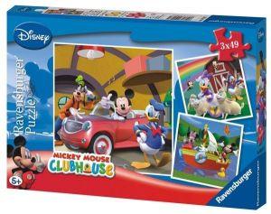 Puzzle Ravensburger  3 x 49 dílků  - Mickey Mouse    092475