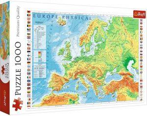 Puzzle Trefl  1000 dílků  - Mapa Evropy   10605