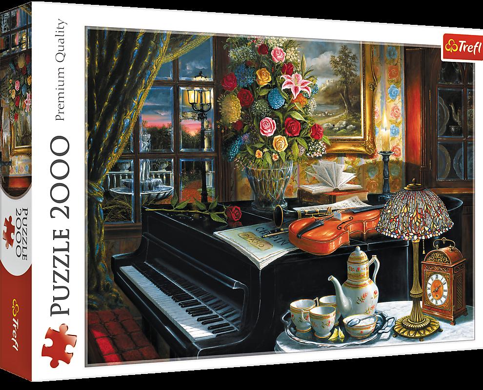 Puzzle Trefl 2000 dílků - Doteky hudby 27112