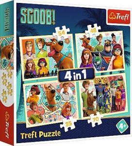 puzzle   Trefl 35, 48, 54 a 70  dílků -  4v1  - Scooby Doo   34340