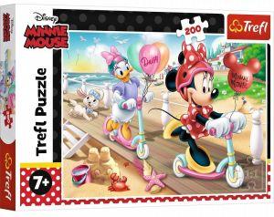 TREFL Puzzle  200 dílků - Minnie na pláži  13262