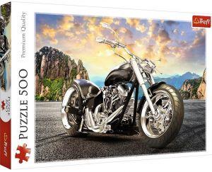 TREFL Puzzle  500 dílků -  Černý motocykl  37384