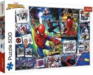 TREFL Puzzle  500 dílků -  Spiderman - koláž z plakátů 37391
