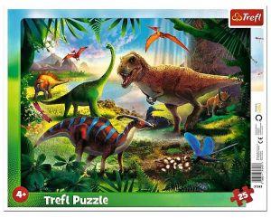 Trefl puzzle rámkové 25 dílků - Dinosauři  31343