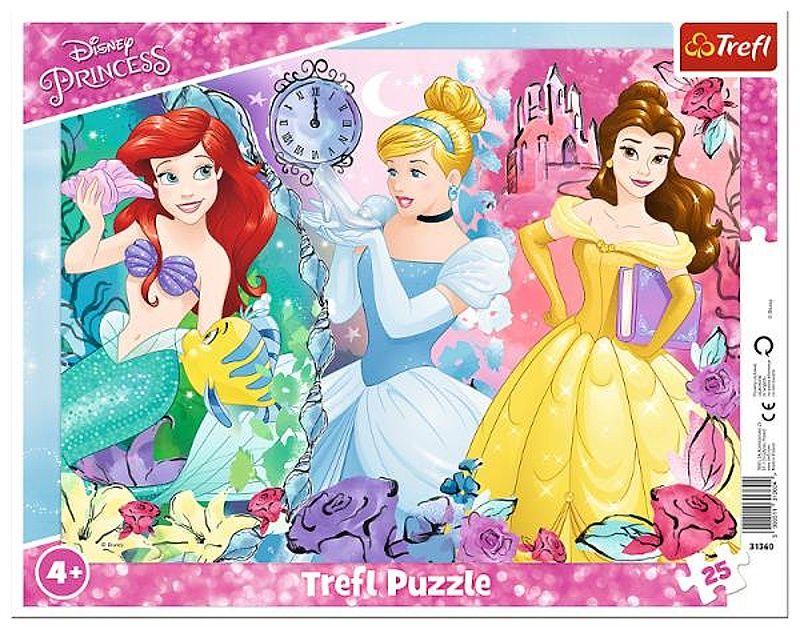 Trefl puzzle rámkové 25 dílků - Princezny 31360