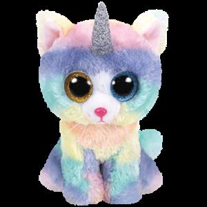TY Beanie Boos -  Heathler - kočka s rohem  36454  - 24 cm plyšák