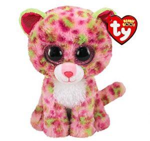 TY Beanie Boos -  Lainey - růžový leopard  36312 - 15 cm plyšák