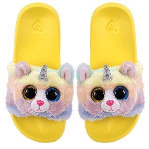 TY plyšové pantofle -  kočka s rohem HEATHER  - vel. L ( 36-38 ) 95471