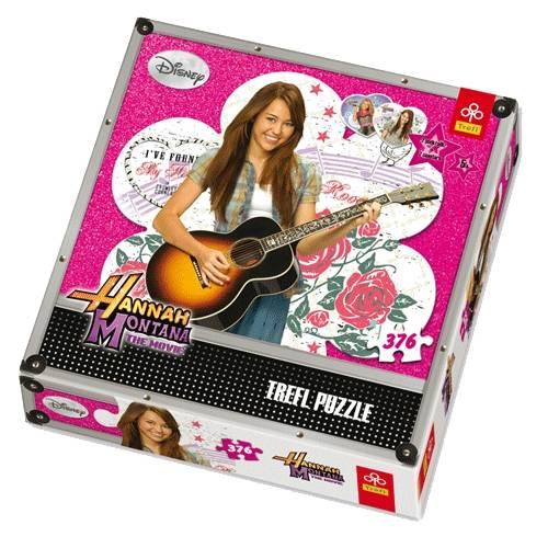 Puzzle Hannah Montana s kytarou 376 dílků -Trefl - AKCE