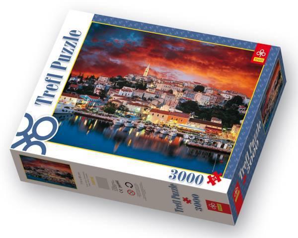 3000 dílků Vrsar, Istrie,Chorvatsko puzzle Trefl 33018