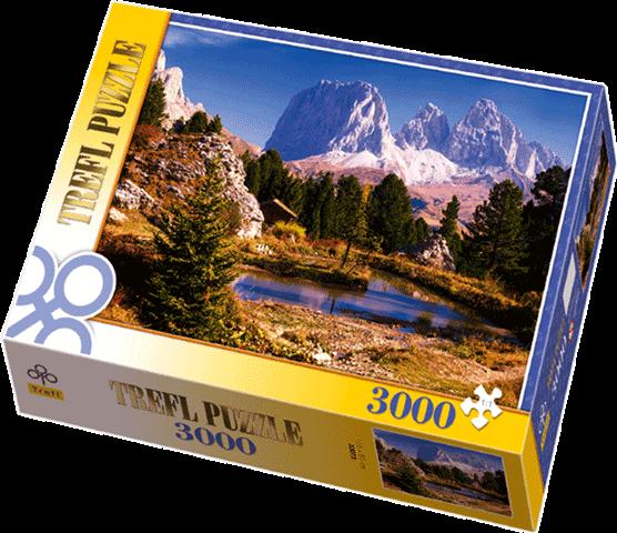 3000 dílků Jezírko v Dolomitech - puzzle Trefl 33012