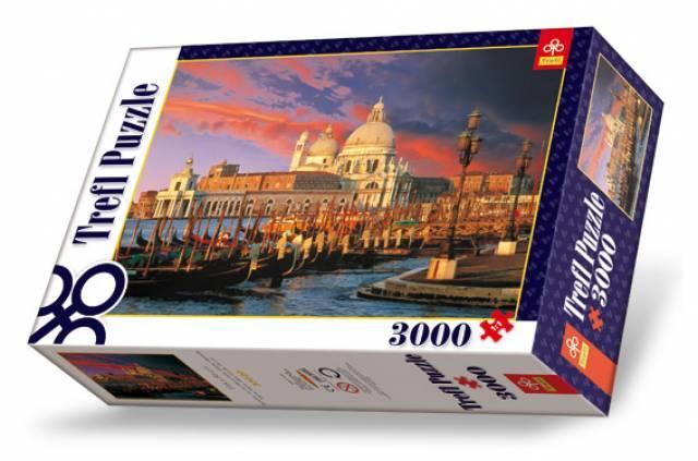 3000 dílků Bazilika Santa Maria della Salute puzzle Trefl 33020