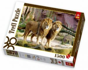 1500 dílků  Lvi - puzzle Trefl