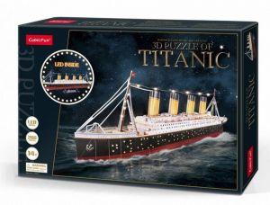 3 D Puzzle CubicFun - Titanic  246 d. LED  - svítící  20251