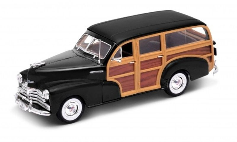 Auto Welly 1:24 1948 Chevrolet Fleetmaster - černý