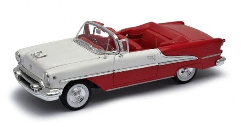 Auto Welly 1:24 1955 Oldsmobile Super 88 červeno bílá barva