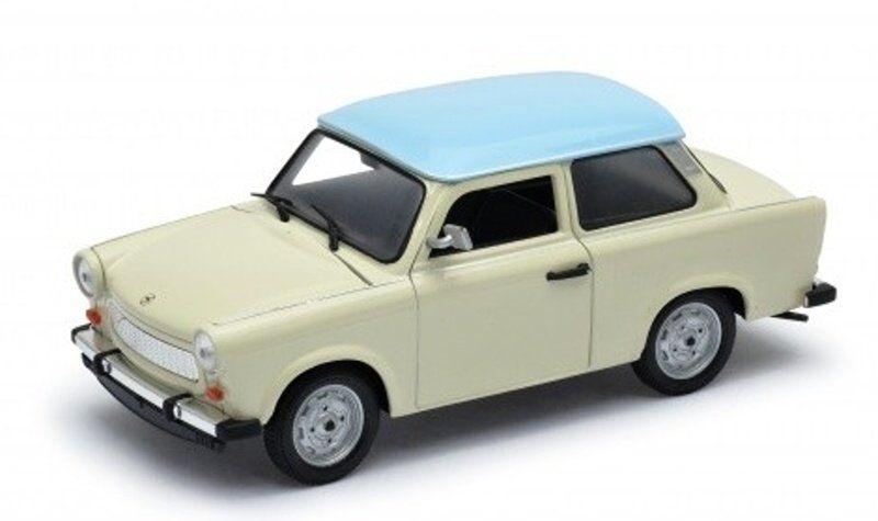Auto Welly 1:24 Trabant 601 - béžový s modrou střechou