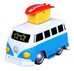 Bburago - autíčko VW Samba s pohyblivými smajlíky - modré