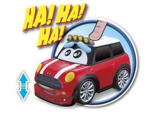Bburago - smějící se autíčko - Mini Cooper  13,5 cm - červené