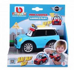 Bburago - smějící se autíčko - Mini Cooper 13,5 cm - modré